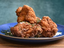 Fried chicken at Farmshop