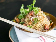 Pork belly noodles at Little Sister