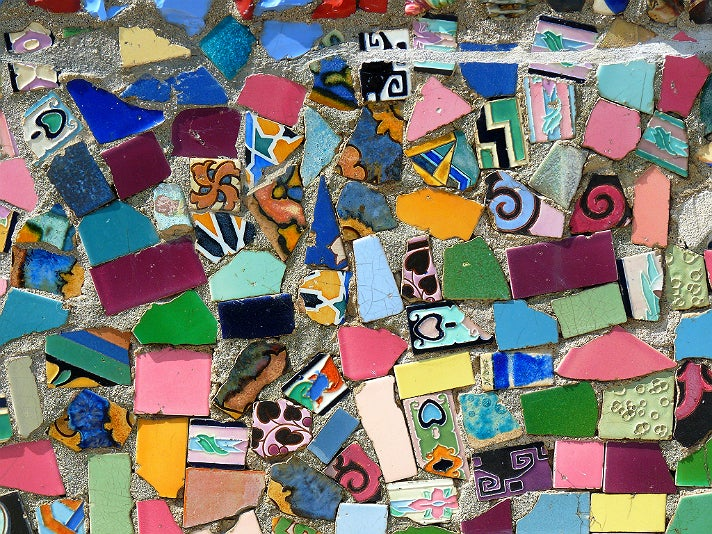 Tiles at Watts Towers