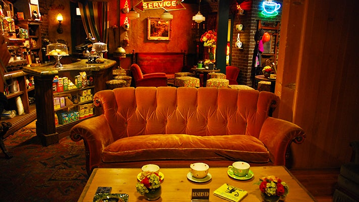 """Central Perk set from """"Friends,"""" Warner Bros. Studio Tour Hollywood"""