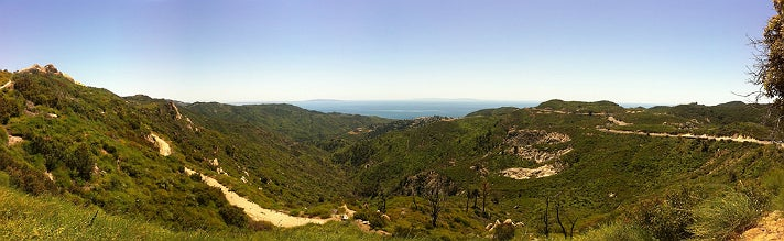 Panoramic view of Corral Canyon in Malibu