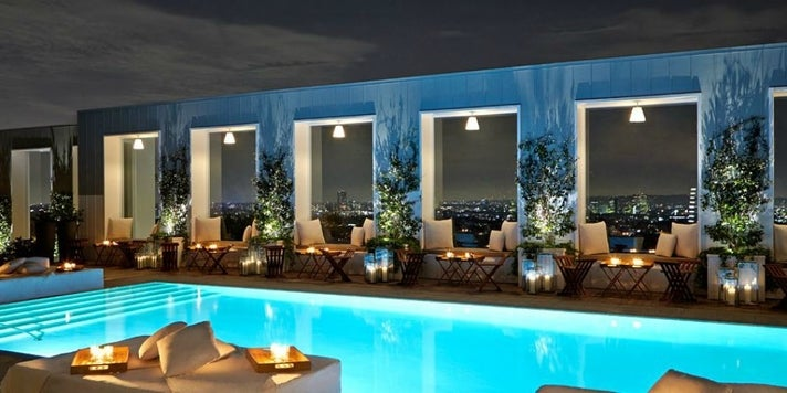 Skybar at the Mondrian Hotel | Photo courtesy of Mondrian Los Angeles