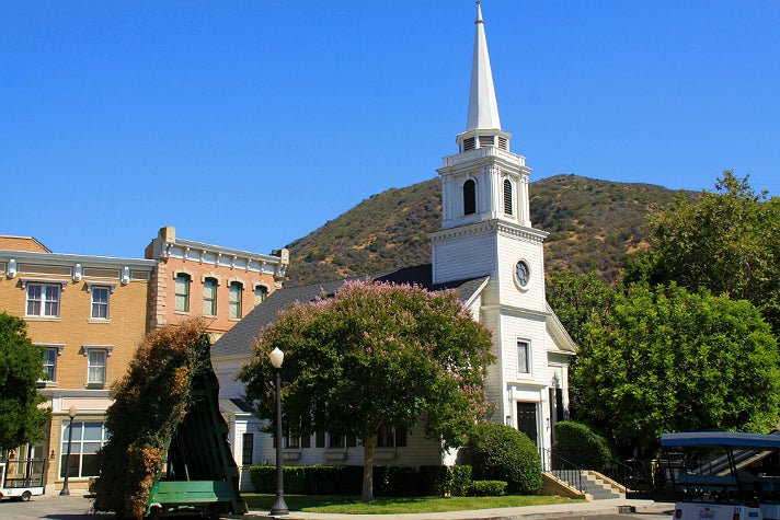 "Rosewood Church in ""Pretty Little Liars"" at Warner Bros. Studio"