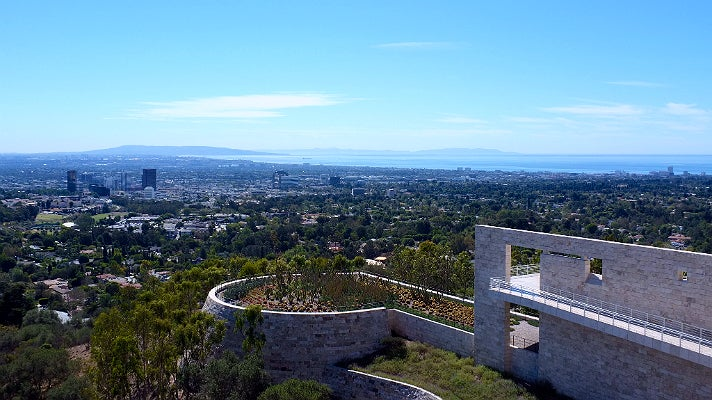 Coastal view from the Getty Center