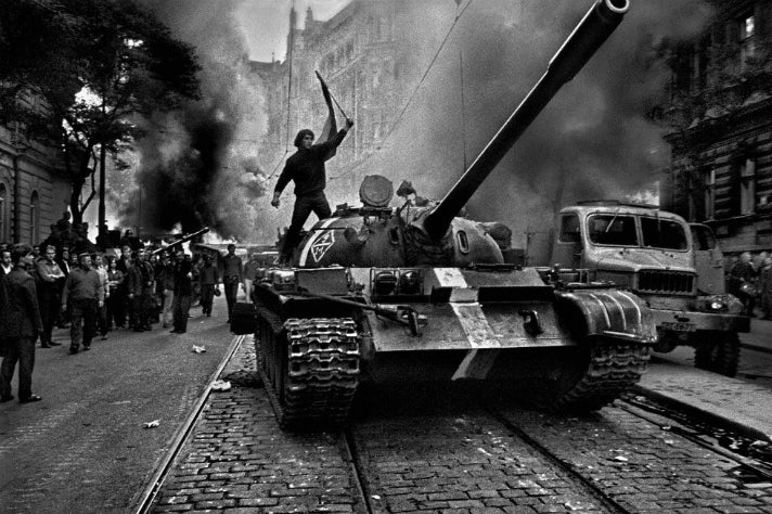 "Josef Koudelka - ""Prague"" (1968) at Getty Center"