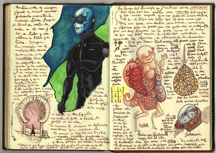 Guillermo del Toro, page from Notebook 4 at LACMA