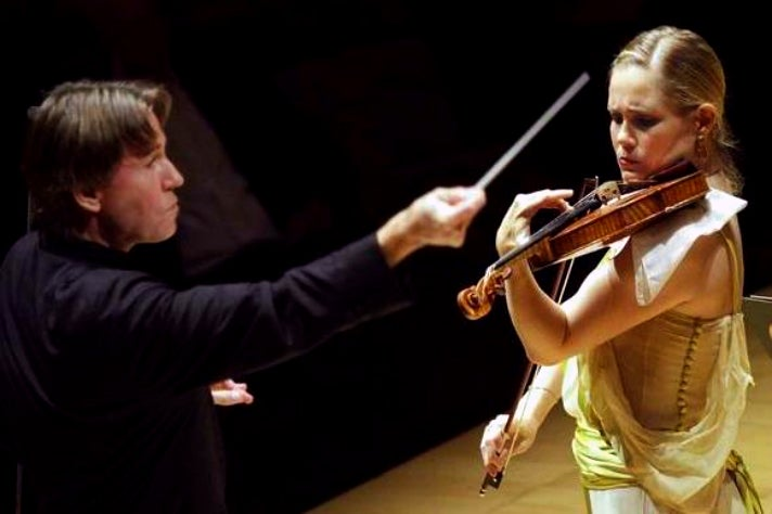Violinist Leila Josefowicz performs Esa-Pekka Salonen's Violin Concerto with Salonen conducting the LA Phil
