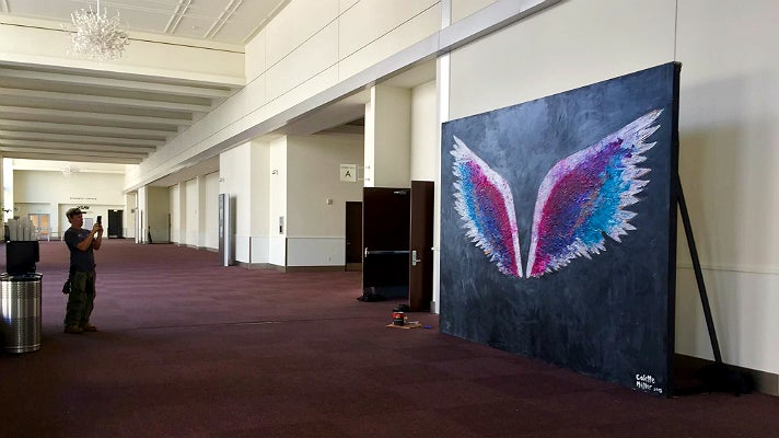 Angel wings at the Pasadena Convention Center