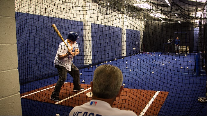 Batting practice at Dodgers All-Access
