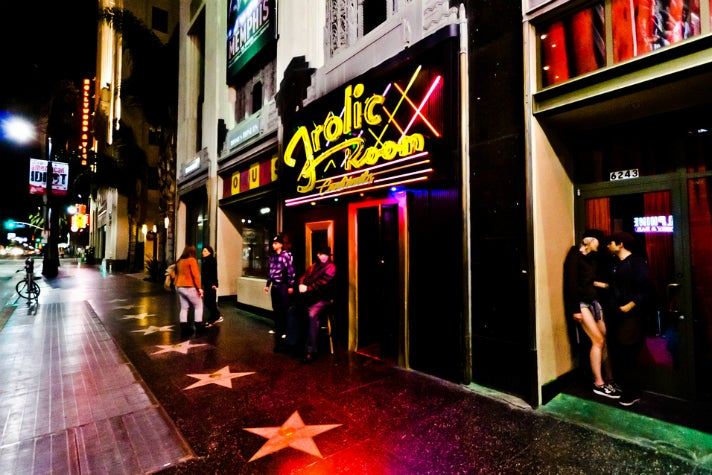 Outside the Frolic Room on Hollywood Boulevard