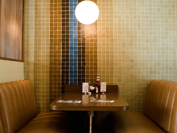 Booth at The 101 Coffee Shop