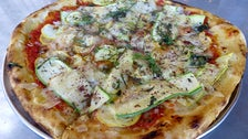 Summer squash pizza at Laurel Hardware