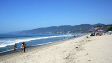 Looking north from Will Rogers State Beach