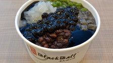 Grass jelly ice at BlackBall