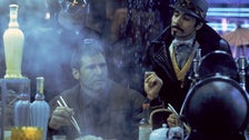 "Rick Deckard and Gaff at the White Dragon Noodle Bar in ""Blade Runner"""