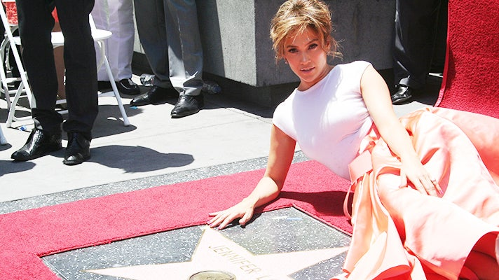 Jennifer Lopez at the Hollywood Walk of Fame
