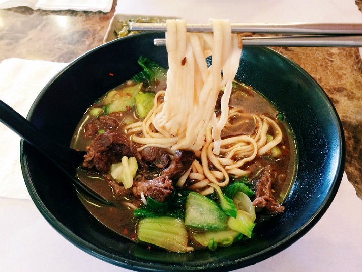 Beef noodle soup at Taipei Bistro