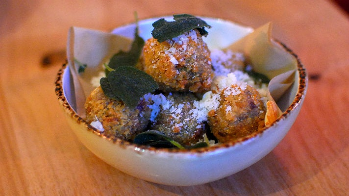 Fried green olives at Wildcraft Sourdough Pizza