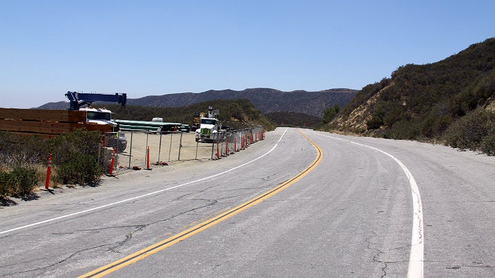 "Templin Highway road split from ""Furious 7"""