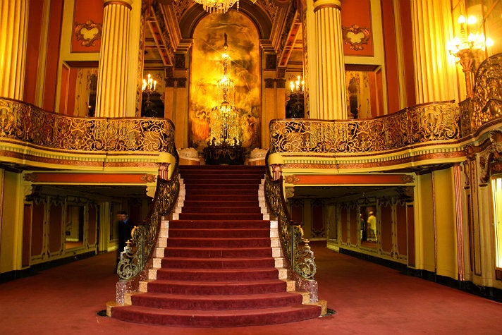 Lobby at Los Angeles Theatre in Downtown L.A.