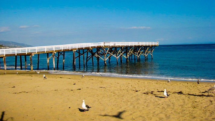 The pier at Paradise Cove