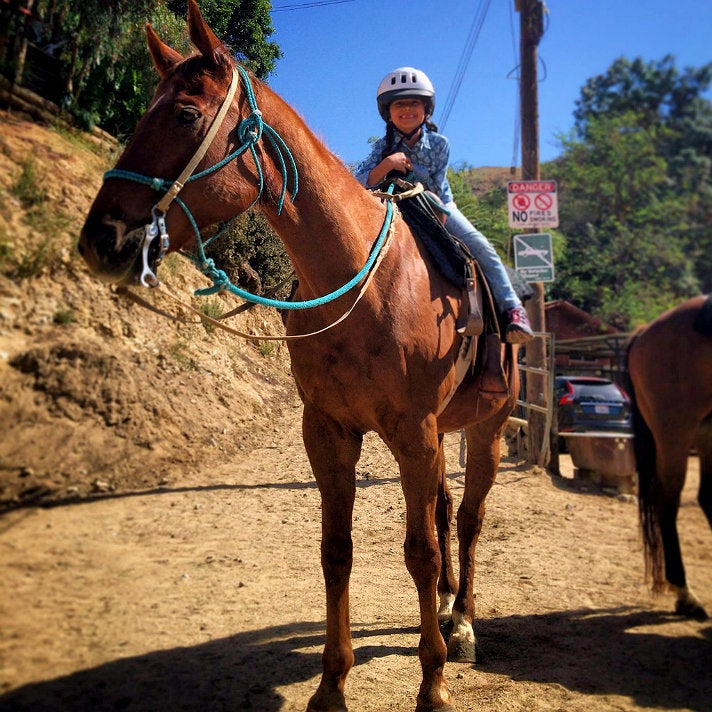 Girl on horse at Sunset Ranch Hollywood