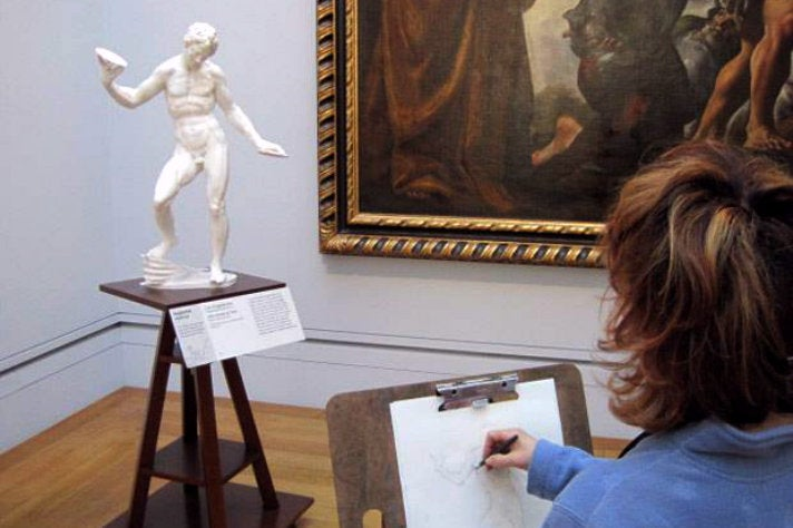 "Adriaen de Vries' ""Juggling Man"" in the Getty Center Sketching Gallery"